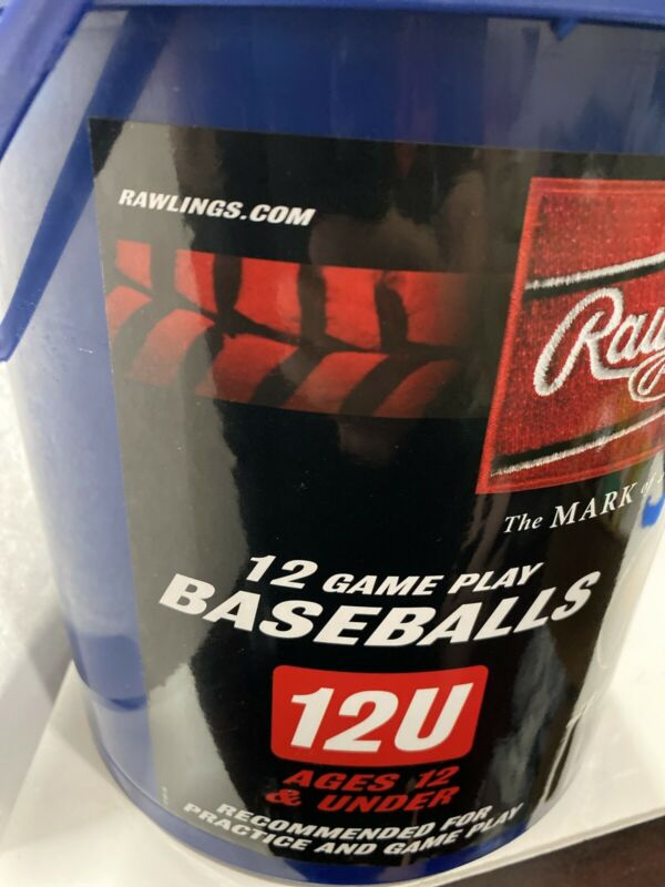 12 Rawlings 12U Official League ROLB2 Youth Gameplay Baseballs NEW SEALED BUCKET
