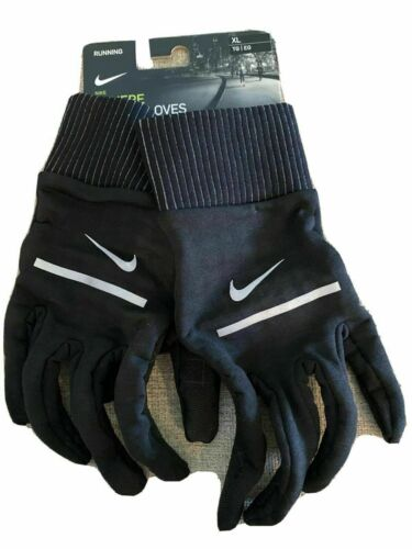 Nike Mens Sphere Running Gloves with Dri-Fit technology XL Black NWT