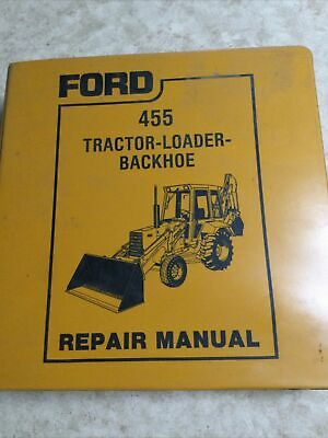 Ford 455 Tractor Loader Backhoe Service Manual Set