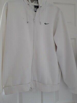 Nike Mens Zip Hoodie white XL