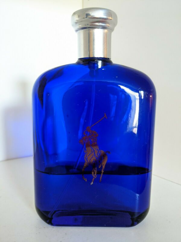 Polo Blue by Ralph Lauren 6.7oz Eau de Toilette Spray for Men 30% Full