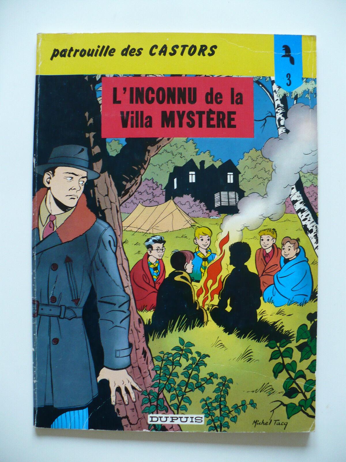 RE (très bel état) - La patrouille des Castors 3 (l'inconnu de la Villa Mystère)