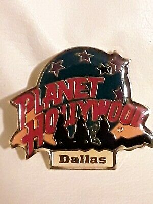 Vintage Planet Hollywood - Dallas - Gold Toned Lapel Or Hat Pin.