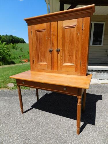 1870s Primitive  Antique School Master Post Office Home Plantation Desk Bookcase