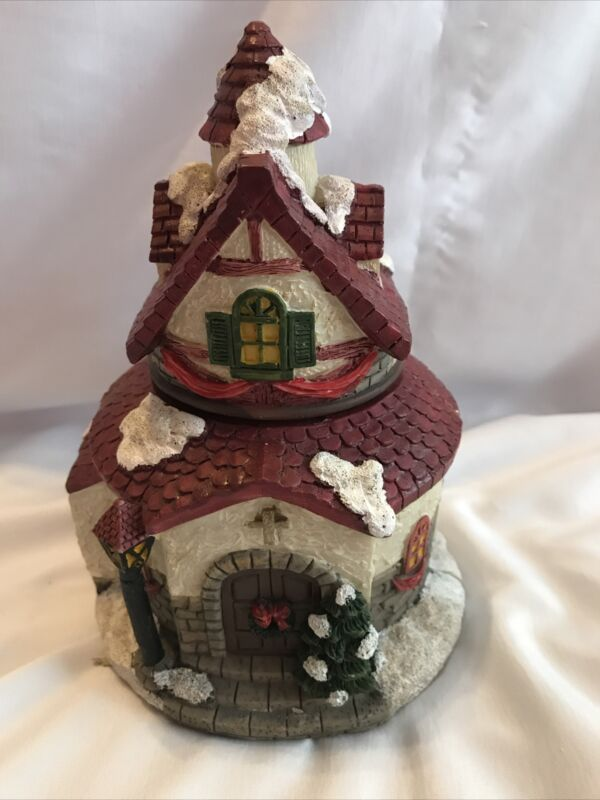 """Christmas Church Building 8"""" Diorama- Opens up to Display Angels & Carolers"""