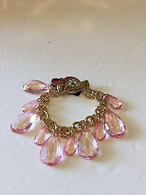 Brighton My Flat In London Pink Crystal Charm Bracelet