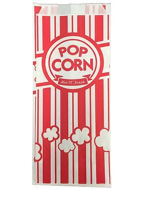 Carnival King Paper Popcorn Bags 1 Oz Red White 1000 Piece