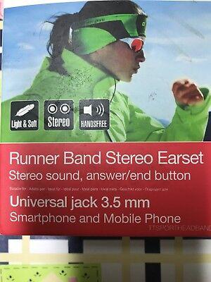 Sbs Runner Band Stereo Earset fascia sport AURICOLARI INCLUSI e CAVO UNIVERSALE! segunda mano  Embacar hacia Spain