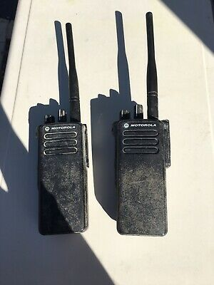 2  X Motorola DP4400 Walkie-talkie In Working Order- Needs Charger