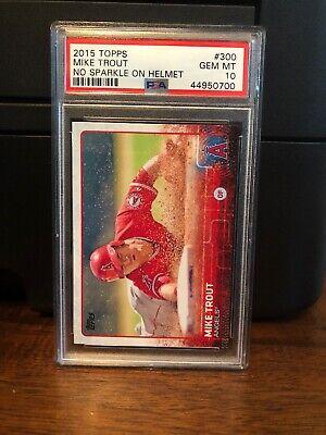 2015 Topps Mike Trout Baseball Card #300 PSA 10 Gem Mint