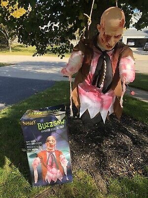Spirit Halloween Buzzsaw Gory Animated Hanging Prop