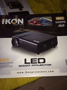 Led 4K 3D projector and nolyn acoustics surround sound