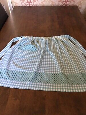 Vintage Hand Embroided, Home Made Gingham Apron Pinny