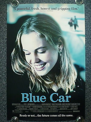 BLUE CAR Original 2000s One Sheet Movie Poster Great Close-up of Agnes Bruckner