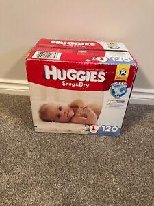 Diapers (Huggies snug & Dry)