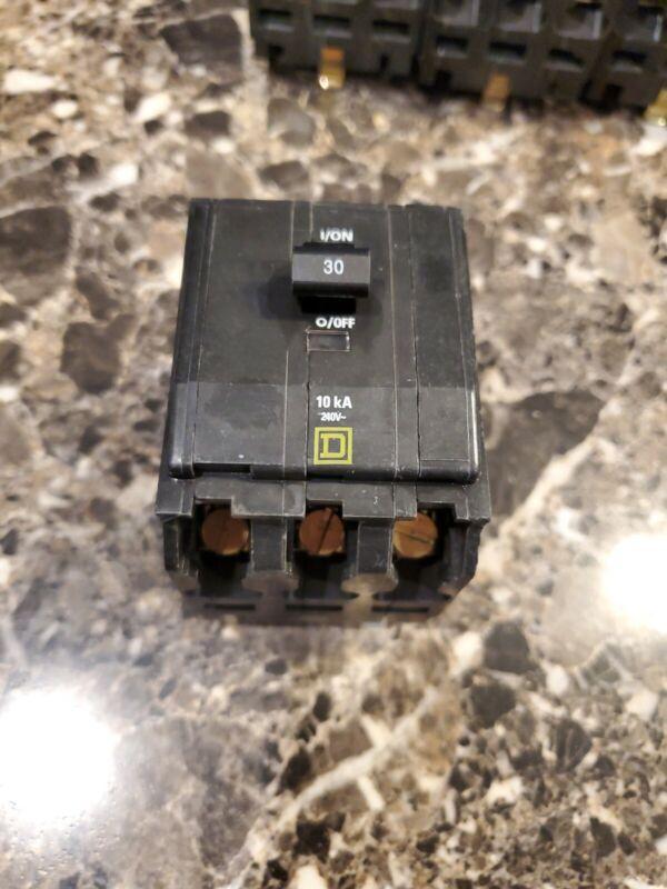 Square D QOB330 3 Pole 30 Amp Circuit Breaker 240V
