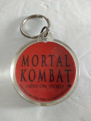 Vtg Key Chain Metal Ring Mortal Kombat Video Game Movie Advertisement Dragon