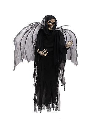 Halloween Skelett mit Flügeln 160cm einfach aber mit viel Gruseleffekt ()
