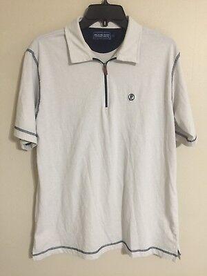 Pelican Coast Clothing Company Shot Sleeve Zip Polo Golf Shirt - Men