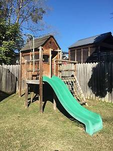 KIDS OUTDOOR WOODEN CUBBY HOUSE with SLIDE Kellyville The Hills District Preview