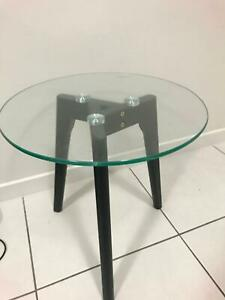 Bedside table glass