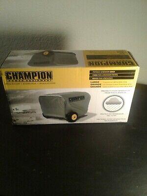 Champion Power Vinyl Portable 4800 To 11500 Watt Power Generator Cover Gray