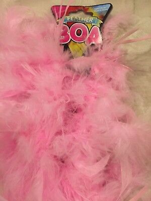 6 FEET LONG PINK FEATHER BOA GREAT FOR PARTIES CRAFTS FUN GLAMOR (Pink Boa)
