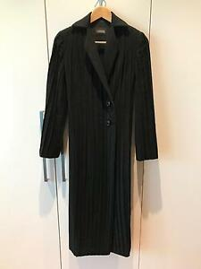SCANLAN & THEODORE Black Long Detail Coat Size XXS Pagewood Botany Bay Area Preview