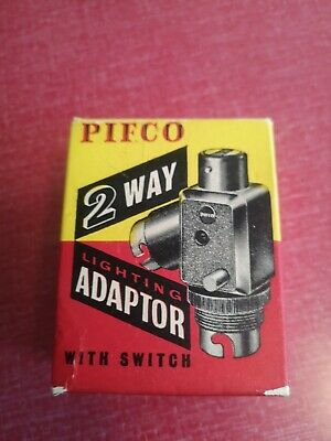 Vintage Pifco 2 Way Lighting Adapter with switch - new old stock