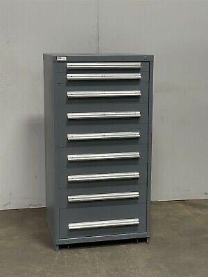 Used Stanley Vidmar 9 Drawer Cabinet Industrial Tool Parts Storage 2419 Lista