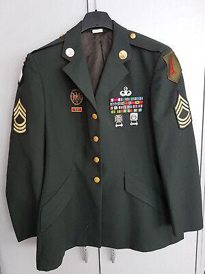 Jacke Greendress Master Sergeant 1st Infantry Big Red One 101 Airborn Damen 20R+