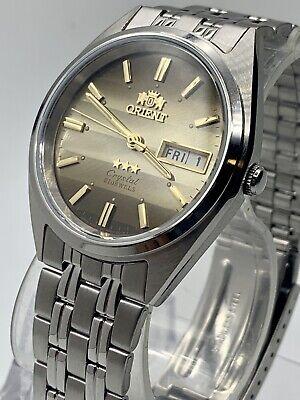 New Genuine  Orient Men's  Automatic Silver Watch W/ Box  FAB0000DU