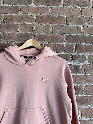 Acne Studios Hoodie Sweatshirt Faded Pink Sz Medium