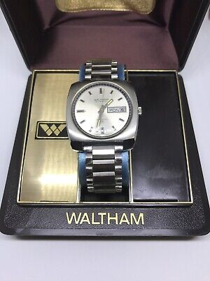 VINTAGE WALTHAM SELF WINDING INCABLOC 25 SWISS MADE MENS WATCH RUNS