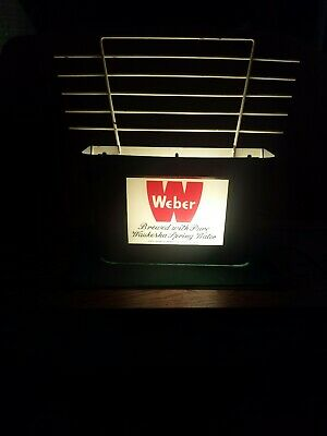 1950's Weber Beer Reverse on Glass Sign