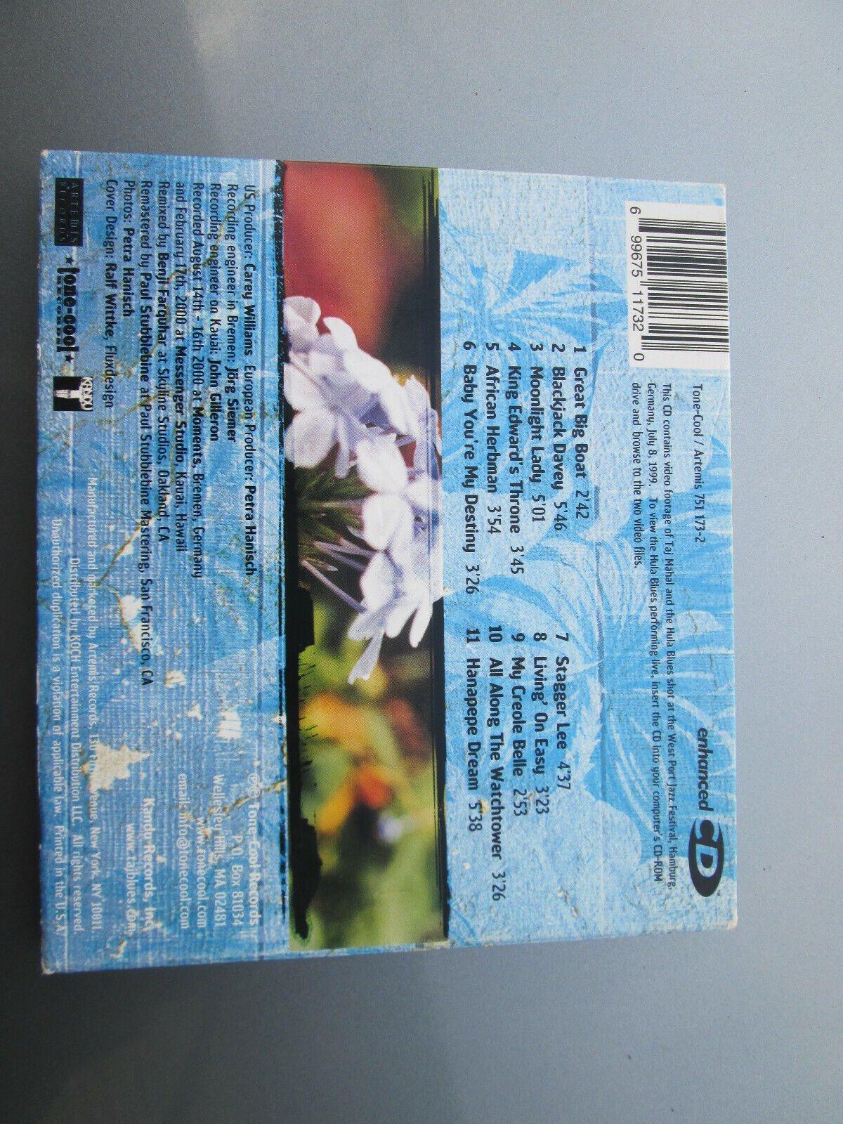TAJ MAHAL THE HULA BLUES BAND - HANAPEPE DREAM CD W/ 2 Video Tracks  - $14.99