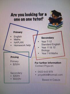 Primary and High School tutoring in Casula