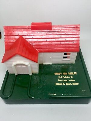 Vintage 1950's Plastic Advertising Bank Realtor House New Castle Indiana Henry