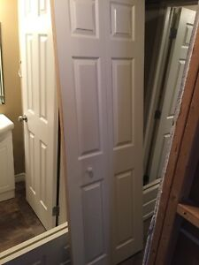 Sliding closet doors, with brackets