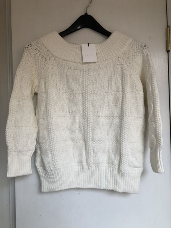 Hatch Maternity Women's THE FIFI SWEATER White Size 1 (SM/4-6) NEW