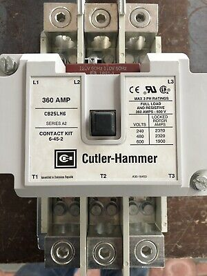 Eatoncutler-hammer Contactor C825ln6 120v Coil 360a 600v New