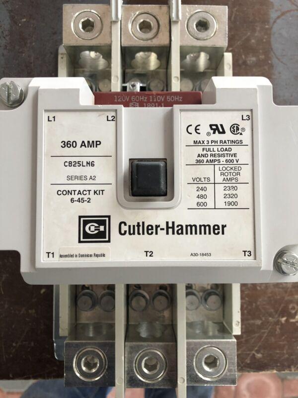 Eaton/Cutler-Hammer Contactor C825LN6 120V Coil 360A 600V NEW