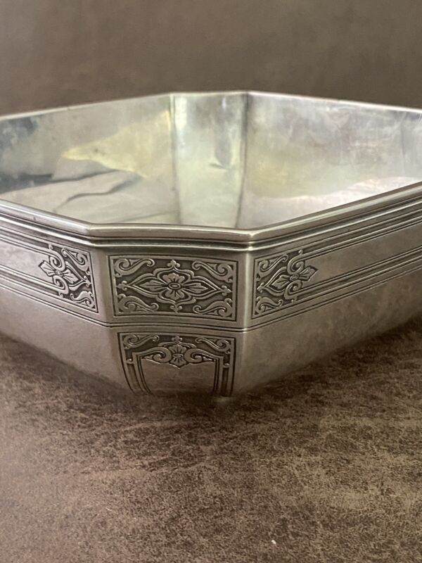 Rare Antique Tiffany & Co. 1923 Makers Sterling Silver Square Bowl 0821