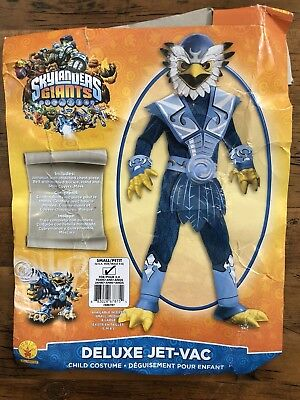 Skylanders Giants Deluxe Halloween Costume Jet-Vac Boys Kids Size Small Rubies