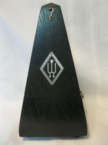 Vintage Wooden Cased Wittner Wind Up Metronome Works