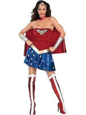Wonder Woman Adult Women's Superhero Supergirl Halloween Costume, M or L](Female Superwoman)