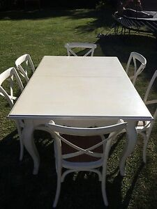 Extendable French Provincial 6x piece Dining set Hunters Hill Hunters Hill Area Preview
