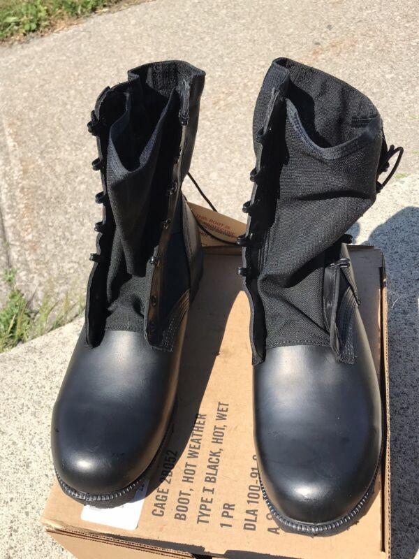Wellco GI Jungle Boots Black Cloth Side Men