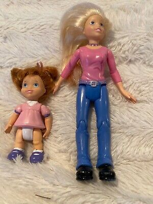 Fisher Price Loving Family Babysitter And Little Sister Figures Doll House Rare