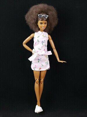 Barbie Made to Move Hybrid Doll w Fashionista 93 Head Afro Hair AA- So Cute